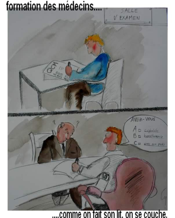 CB: dessin formation médicale